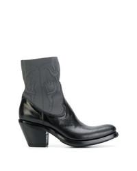 Bottes western en cuir noires Rocco P.