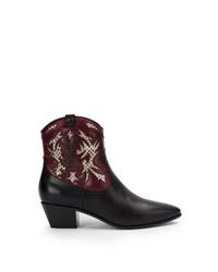 Bottes western en cuir noires Saint Laurent