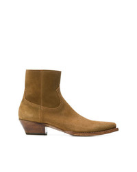 Bottes western moutarde Saint Laurent