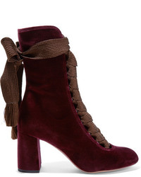 Bottines à lacets bordeaux Chloé