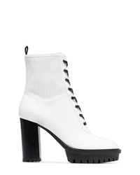 Bottines à lacets en cuir blanches Gianvito Rossi