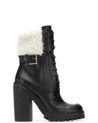 Bottines à lacets en cuir noires Givenchy