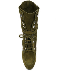Bottines à lacets olive Casadei