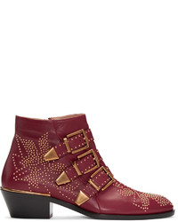 Bottines bordeaux Chloé