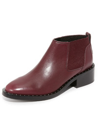 Bottines chelsea en cuir à clous bordeaux 3.1 Phillip Lim
