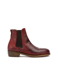 Bottines chelsea en cuir bordeaux Ajmone