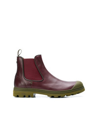 Bottines chelsea en cuir bordeaux BRIMARTS