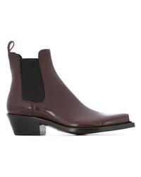 Bottines chelsea en cuir bordeaux Calvin Klein 205W39nyc