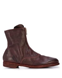Bottines chelsea en cuir bordeaux Guidi