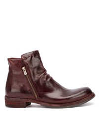 Bottines chelsea en cuir bordeaux Officine Creative