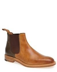 Bottines chelsea en cuir marron clair