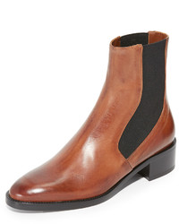 Bottines chelsea en cuir marron clair Vince