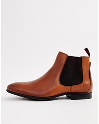 Bottines chelsea en cuir marron Ben Sherman