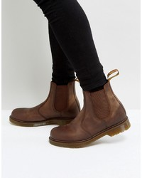 Bottines chelsea en cuir marron Dr. Martens