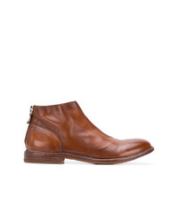 Bottines chelsea en cuir marron Moma