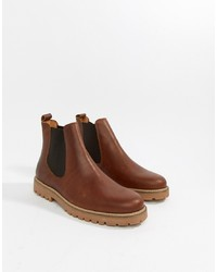 Bottines chelsea en cuir marron Zign