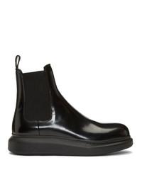 Bottines chelsea en cuir noires Alexander McQueen