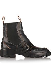 Bottines chelsea en cuir noires Balenciaga