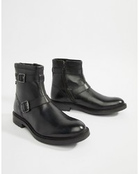 Bottines chelsea en cuir noires Base London