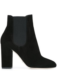 Bottines chelsea en cuir noires Dolce & Gabbana