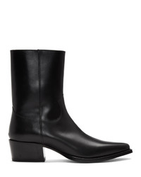 Bottines chelsea en cuir noires DSQUARED2