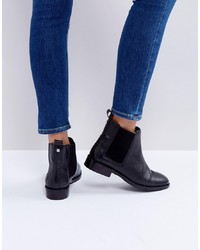 Bottines chelsea en cuir noires Faith