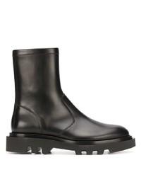 Bottines chelsea en cuir noires Givenchy