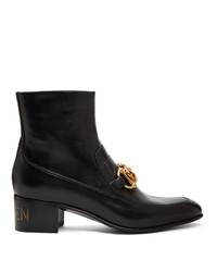 Bottines chelsea en cuir noires Gucci