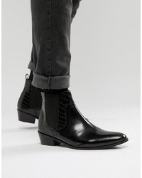 Bottines chelsea en cuir noires House of Hounds