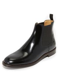 Bottines chelsea en cuir noires Marc Jacobs