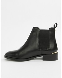 Bottines chelsea en cuir noires Office