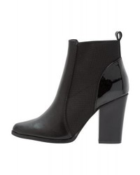 Bottines chelsea en cuir noires Only