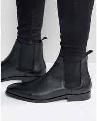 Bottines chelsea en cuir noires Paul Smith