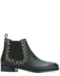 Bottines chelsea en cuir noires RED Valentino