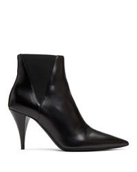 Bottines chelsea en cuir noires Saint Laurent
