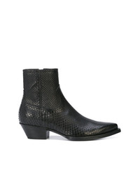 Bottines chelsea en cuir noires Saint Laurent