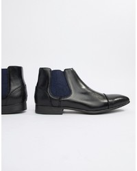 Bottines chelsea en cuir noires Truffle Collection