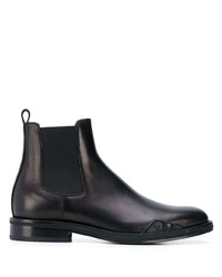Bottines chelsea en cuir noires Versace