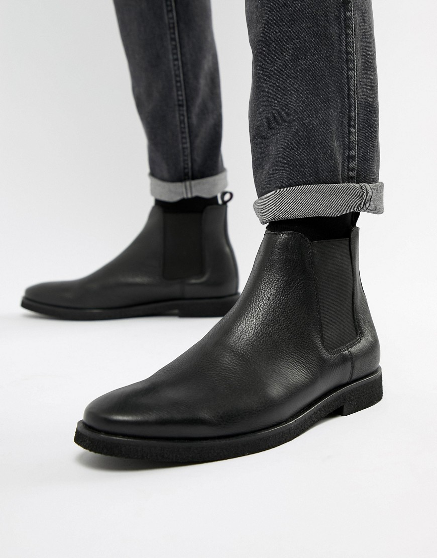 Bottines chelsea en cuir noires WALK LONDON