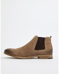 Bottines chelsea en daim beiges Aldo