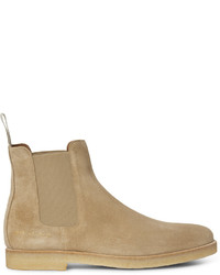 Bottines chelsea en daim beiges Common Projects