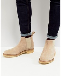 Bottines chelsea en daim beiges Grenson