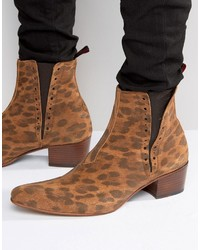 Bottines chelsea en daim brunes Jeffery West