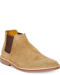 Bottines chelsea en daim marron clair
