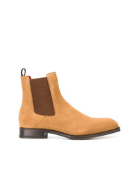 Bottines chelsea en daim marron clair Alexander McQueen