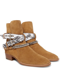 Bottines chelsea en daim marron clair Amiri