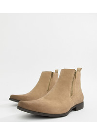 Bottines chelsea en daim marron clair ASOS DESIGN