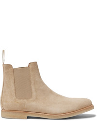 Bottines chelsea en daim marron clair Common Projects