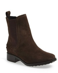 Bottines chelsea en daim marron foncé