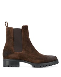 Bottines chelsea en daim marron foncé DSQUARED2